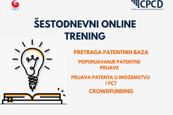 Invitation for participants in a six-day training on patenting and crowdfunding