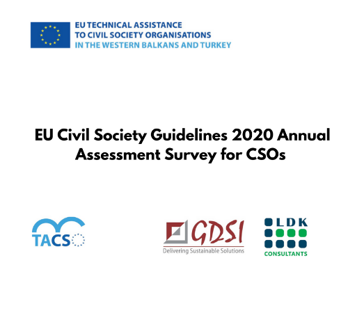 Invitation to organizations to participate in the survey of civil society organizations capacity